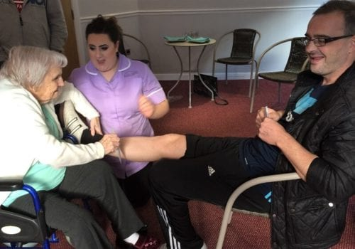 sensory room leg wax fundraiser