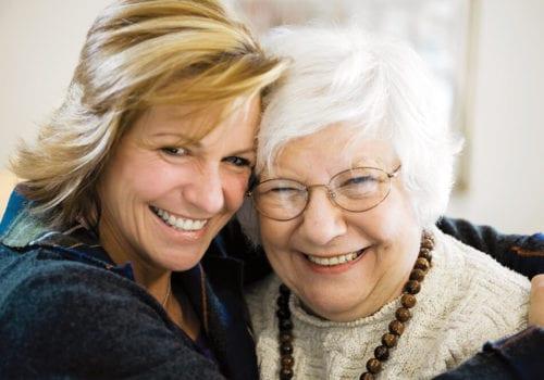Kathy Hugging Mother