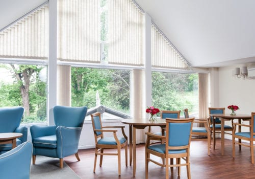 Abbotsleigh Dementia Nursing and Residential Home light and airy communal space