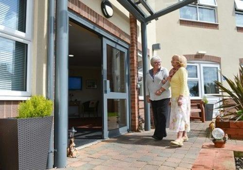 Bowbridge Court Care Home building entrance