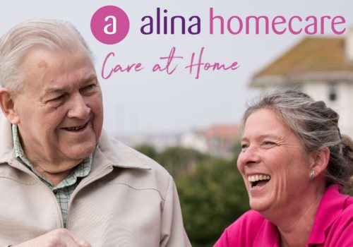 Alina Homecare Guildford carer and older man smiling