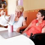 avante home care and support clients enjoying tea