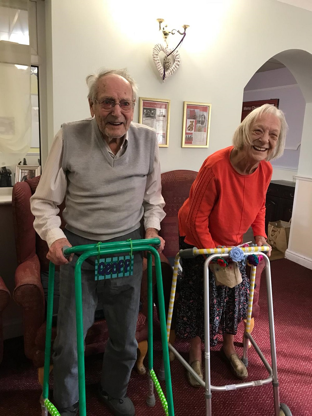 Longmoor residents show off their Zinged Zimmers