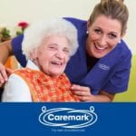 Caremark (Dacorum & St Albans) carer and elderly lady smile for camera