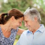 senior lady and caregiver