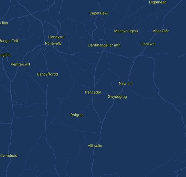 Dyfed Map