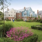 Northampton Village apartment exteriors and garden