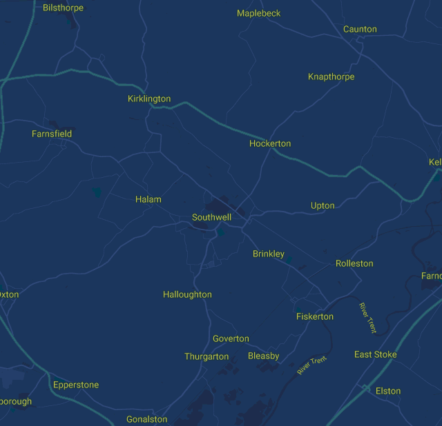 Nottinghamshire Map
