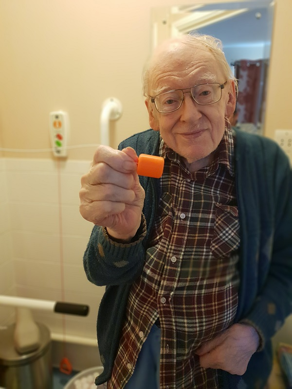 John Downes with cord pull_credit Home Meadow Care Home