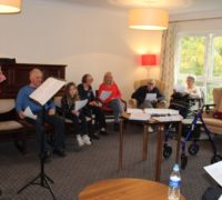 Singalong session as entertains care home residents