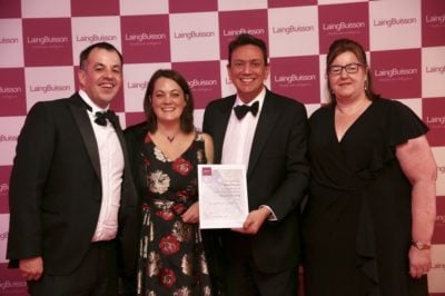 The team from Eden futures with their LaingBuisson Awards 2018 certificate