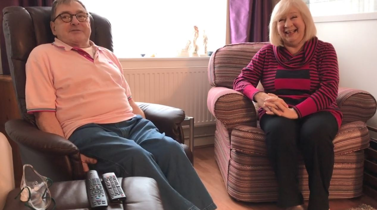 Robin and Lesley, the cornwall couple who've benefitted from a care monitoring system