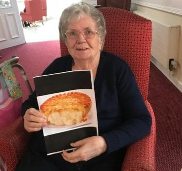 Halton View Resident and her pie picture