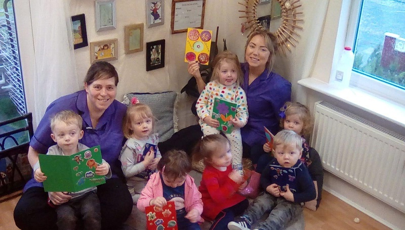 the nursery children and their Friendship Cards