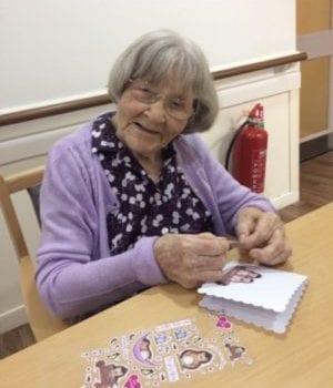 resident creates a friendship card