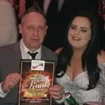 Winner of The Best Ancillary Worker award at The Great British Care Awards, The Oaks Care Home maintenance man Chris Sorgorski with his girlfriend and senior care assistant Paige Gallagher