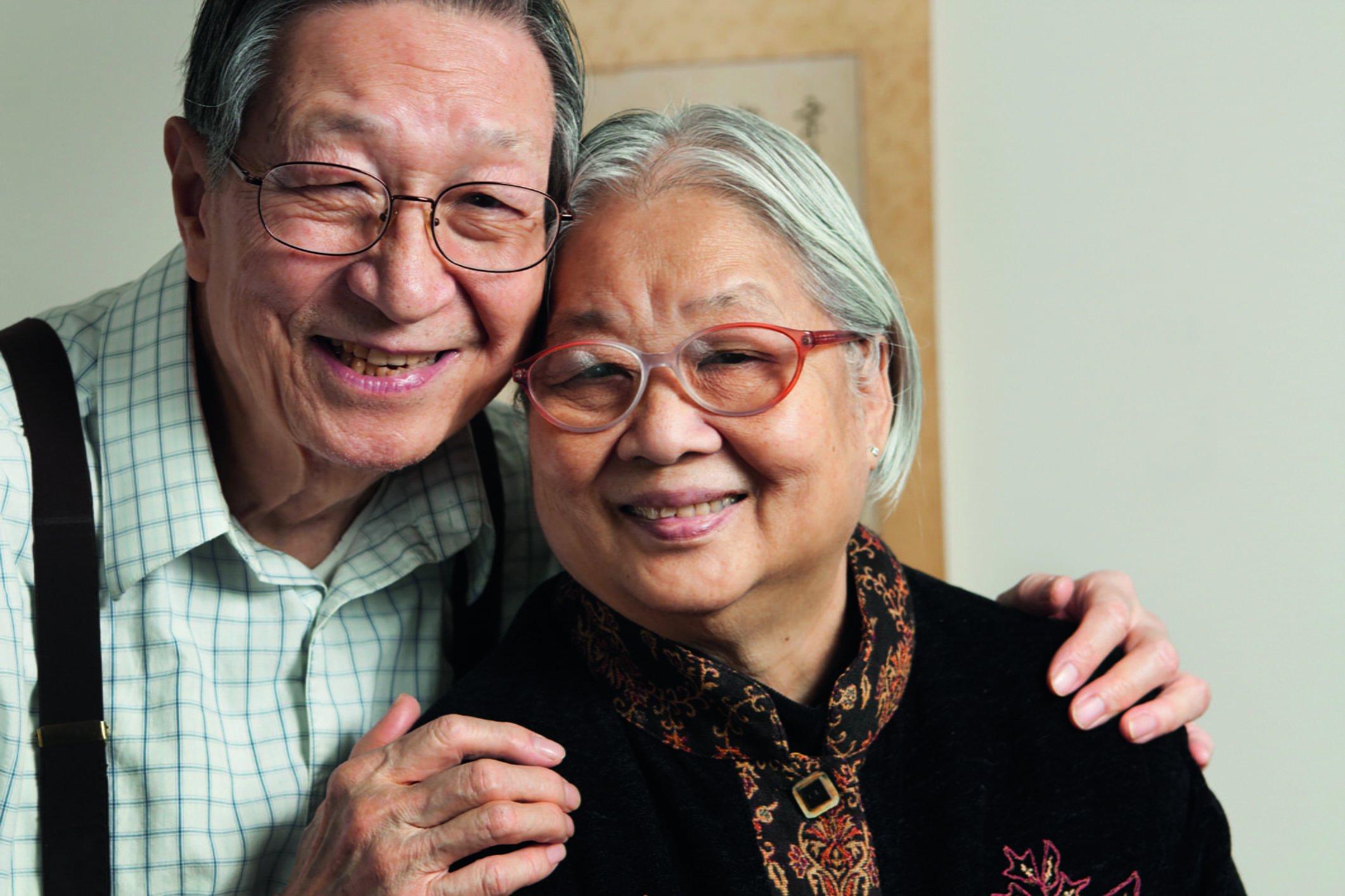 Two asian elders