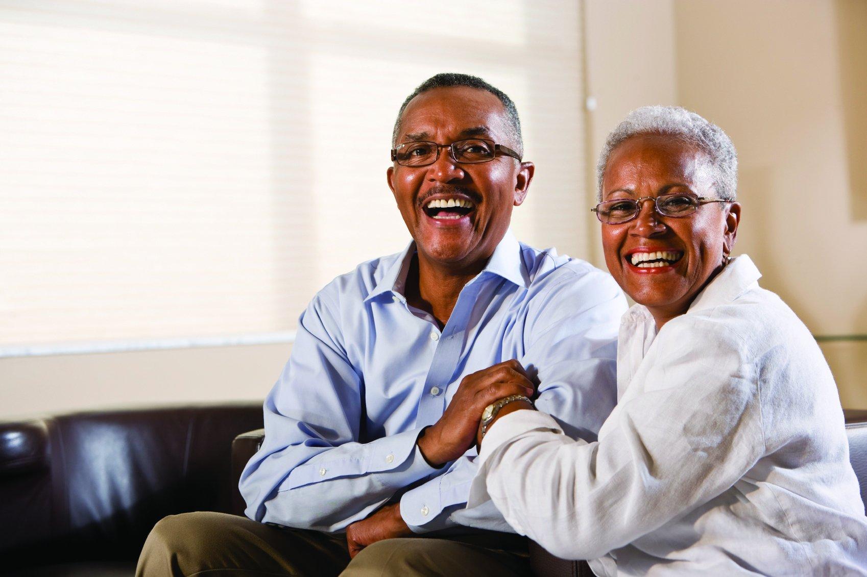 two elderly black men