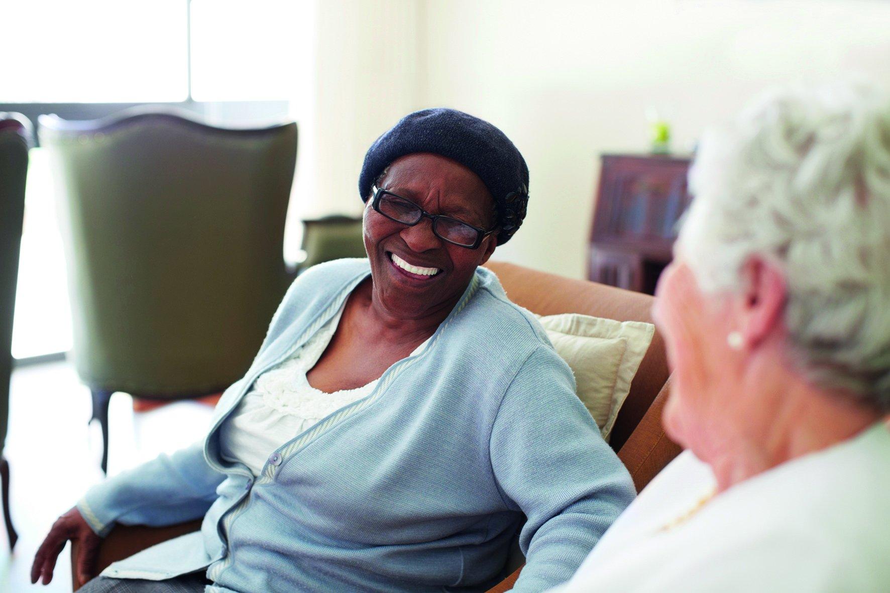 Elderly ladies laughing
