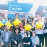 Cygnet cedars team celebrate their outstanding rating