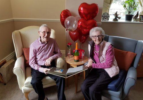 Jim and Betty celebrate