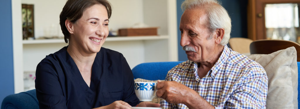 a live in carer can support with recovery, rehabilitation and even work  alongside other professionals