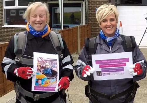 Charity skydive team