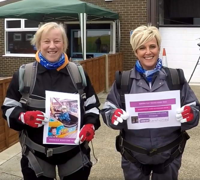 Charity skydive team