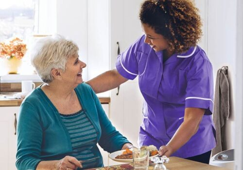 Heritage Healthcare Trafford clinet and carer