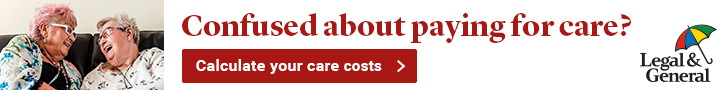 Legal and general care costs calculator ad