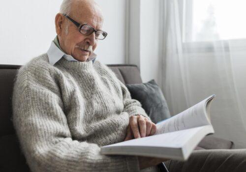 man choosing a care home