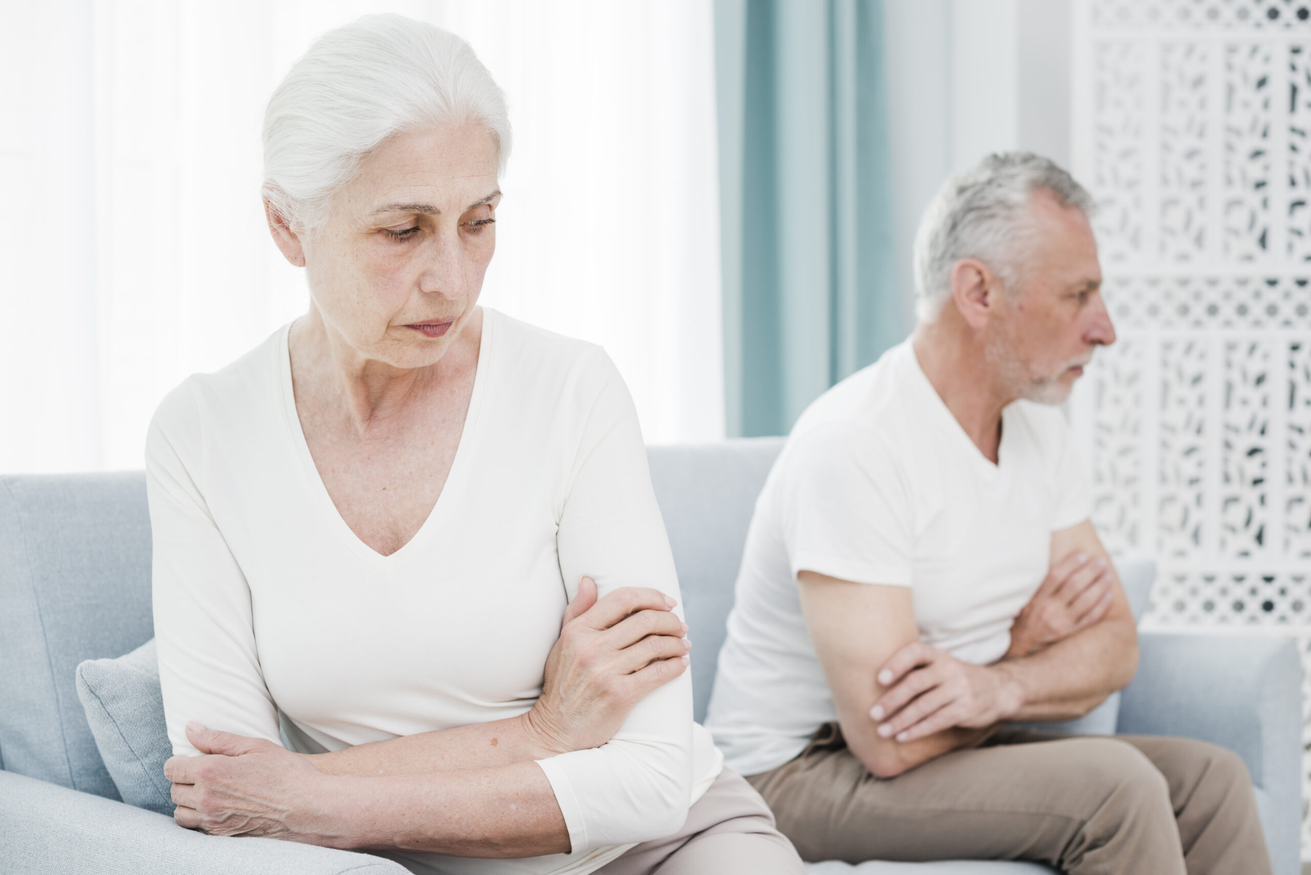 Care Dilemma - elderly couple angry with each other