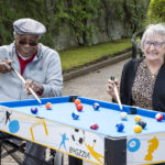 Charles Davies Cole - Sandra Wood playing pool