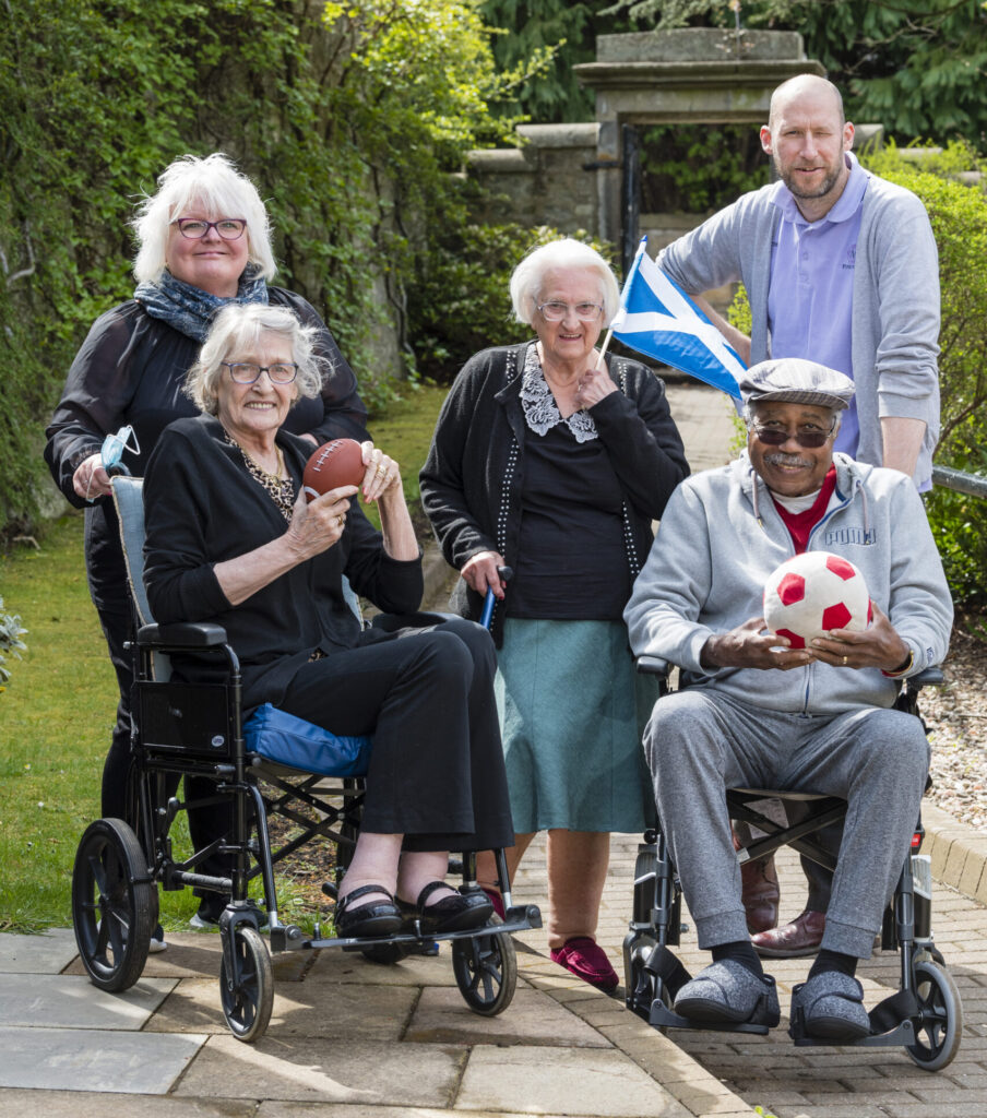 residents at their Spring Olympics