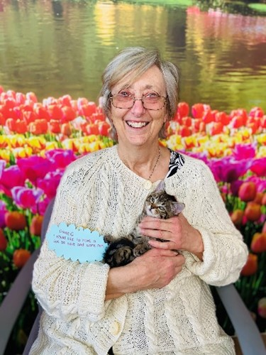 Dianne and her granted wish, Dave the Kitten