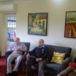 Lime Tree House residents on their Zoom call