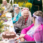 Birchwood House residents medieval feast
