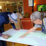care home residents interact